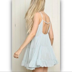 ⭐️CLOSE OUT⭐️ Blue Brandy Melville baby doll dress